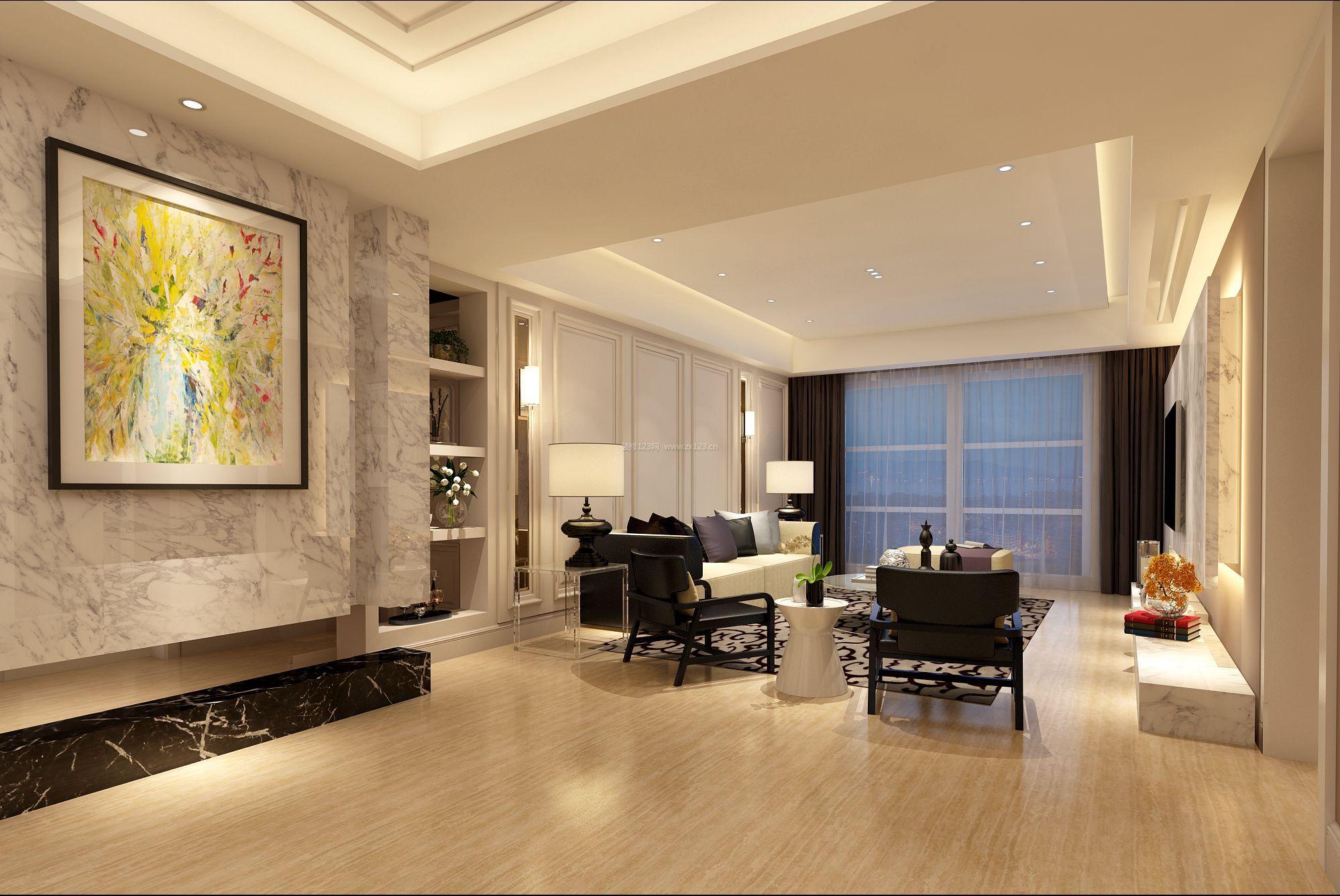 170平米房子跃层客厅简装图片_装修123效果图