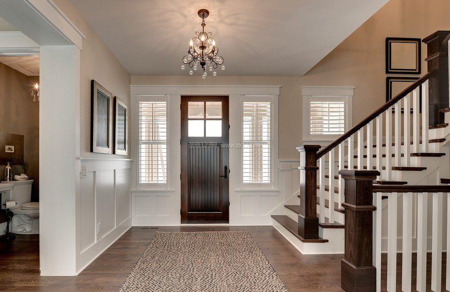 房子进门正对玄关效果图_装修123效果图