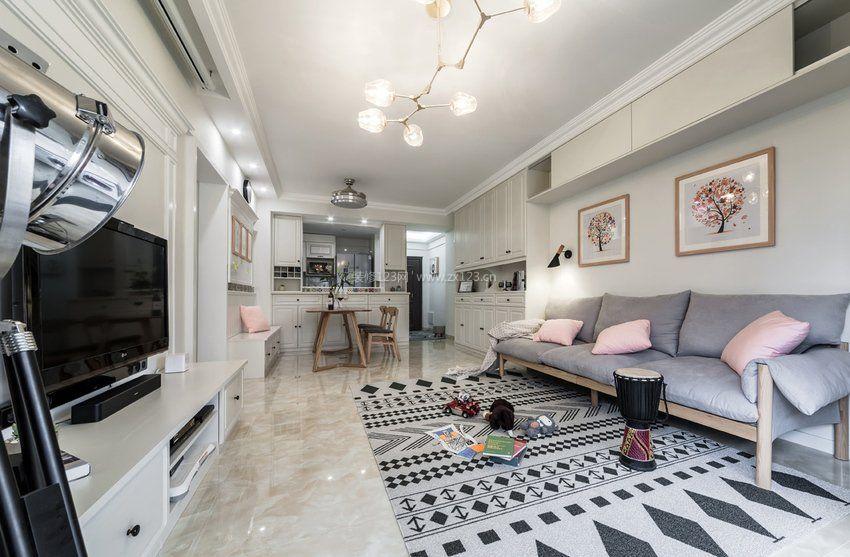 客厅地毯装修效果图大全2017图片