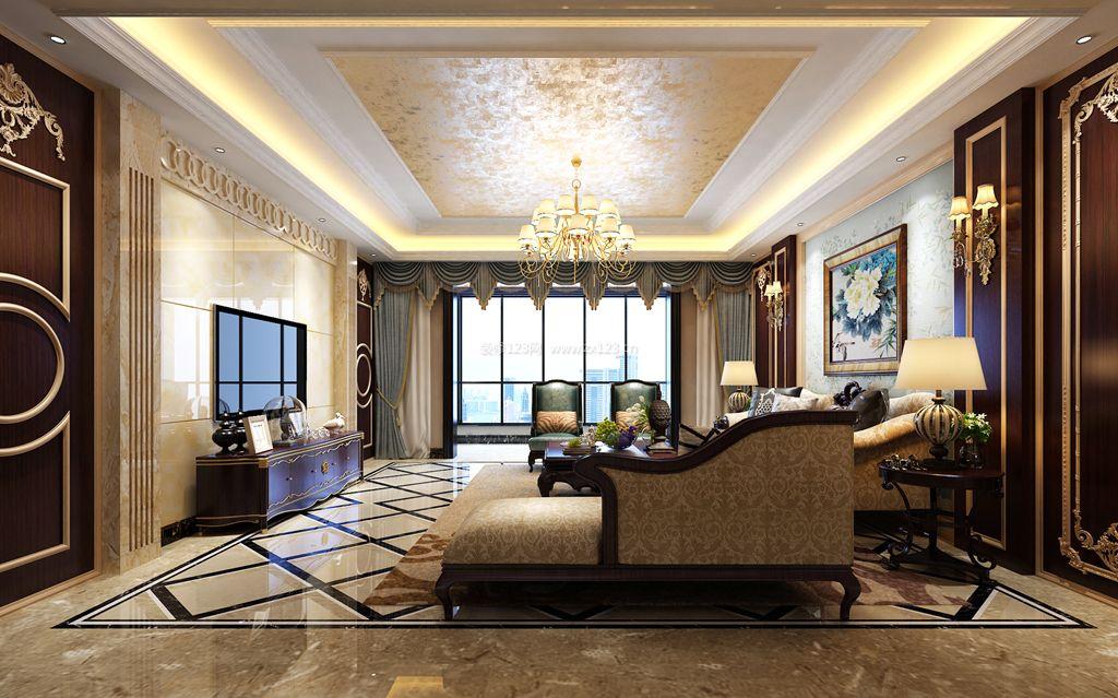 新古典风格客厅地板砖装修效果图