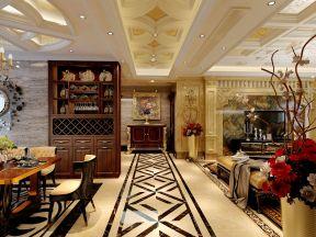 豪华欧式风格装修效果图 三室两厅装修效果图片