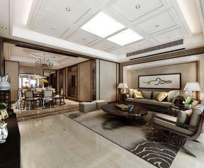 现代新中式风格装修效果图 复式别墅装修效果图