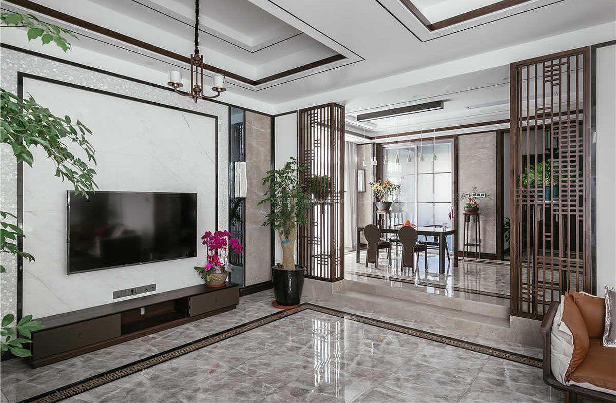 家装效果图 中式 中式现代风格小户型整体装修效果图 提供者:   ←