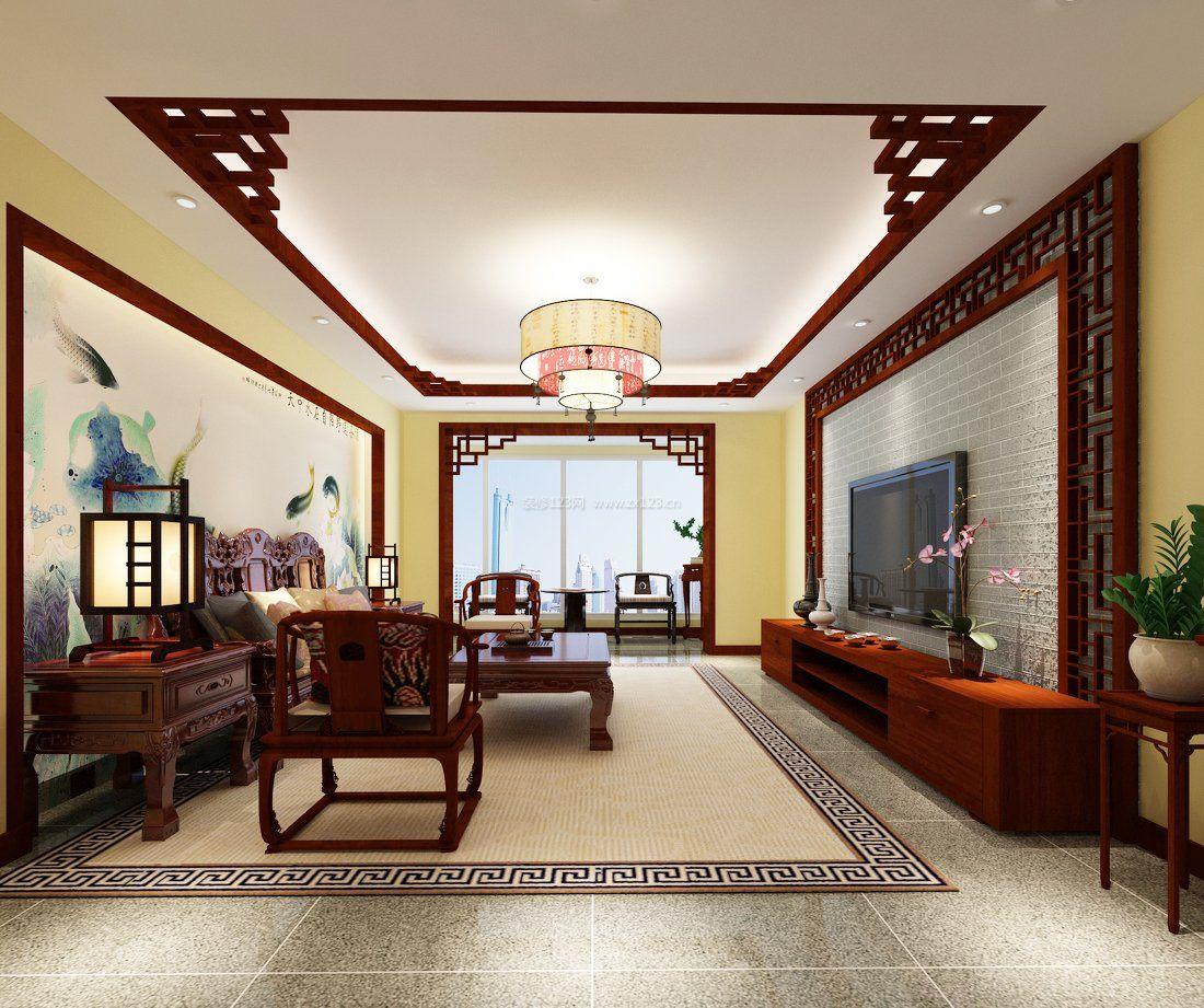 简中式客厅实木沙发装修效果图片大全