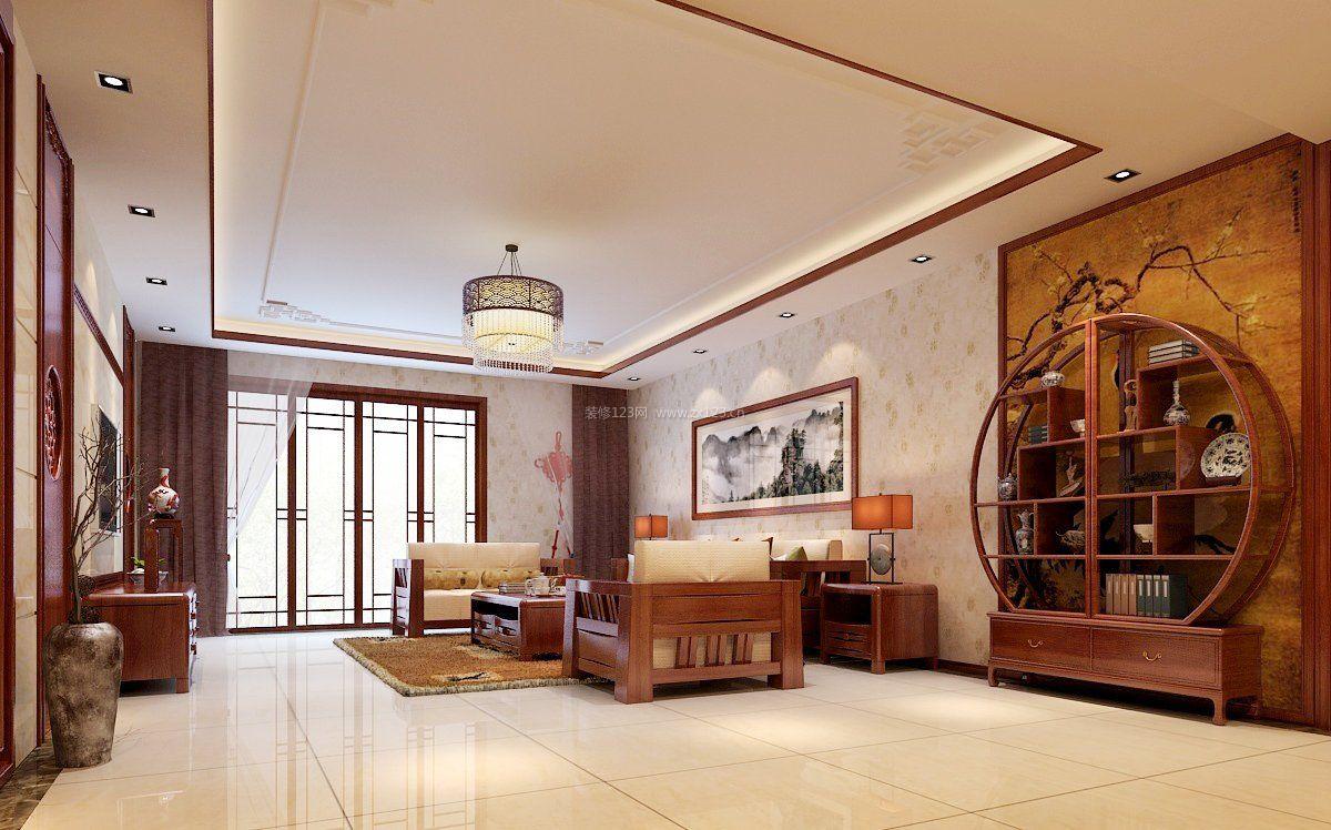 简中式客厅简单吊顶装修效果图图片
