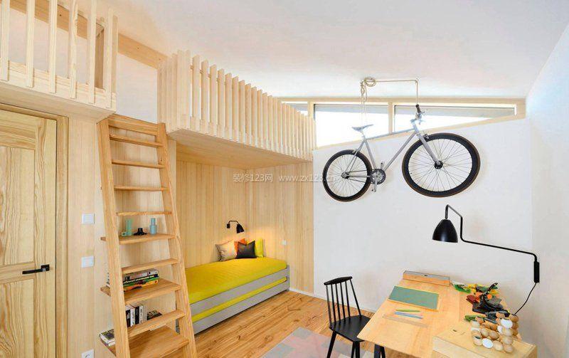 小户型创意家居实木高低床图片大全图片