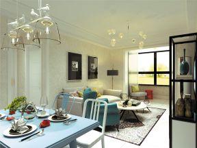 现代简约家装风格效果图 三室两厅装修效果图片