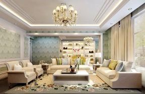 现代欧式风格客厅 客厅欧式吊灯效果图