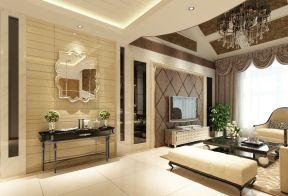 现代欧式风格客厅 玄关设计装修效果图片