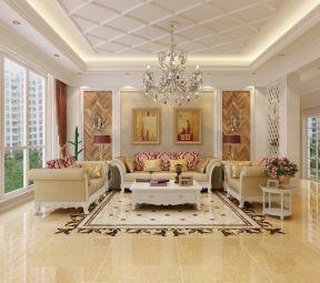 现代欧式风格客厅 客厅沙发摆放装修效果图片