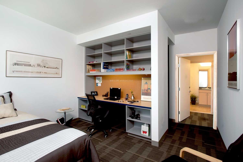 30平单身公寓卧室效果图_装修123效果图