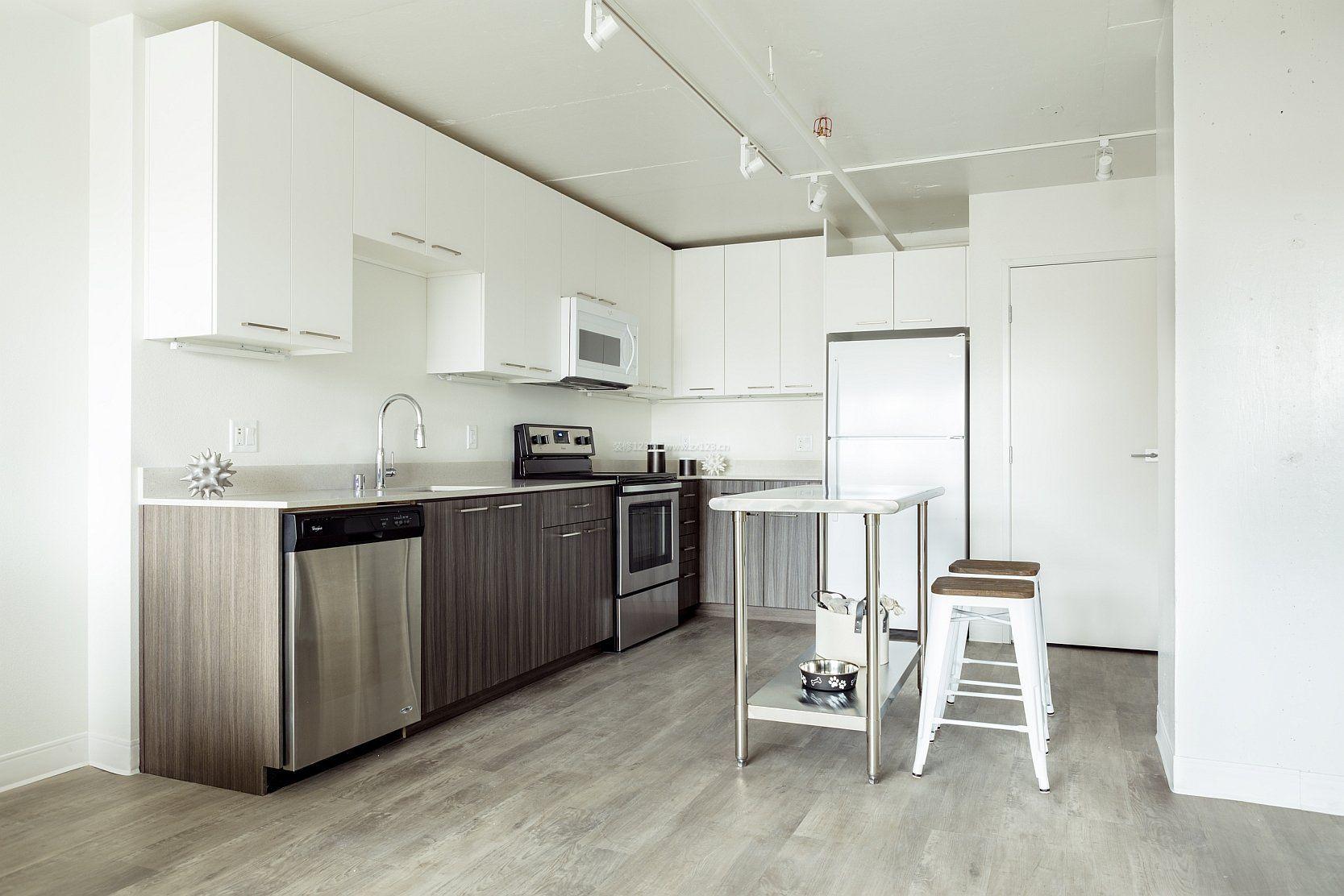 30平单身公寓厨房设计效果图_装修123效果图