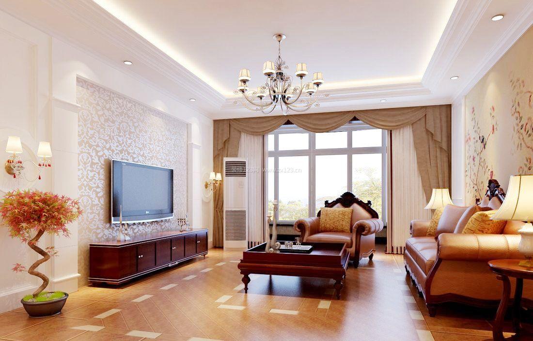 欧式家居设计小户型客厅餐厅吊顶_装修123效果图图片