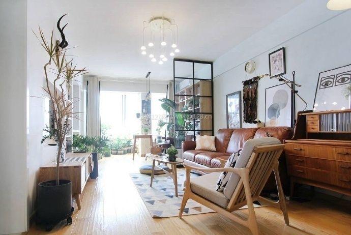 北欧风格家居玻璃隔断设计装修效果图片