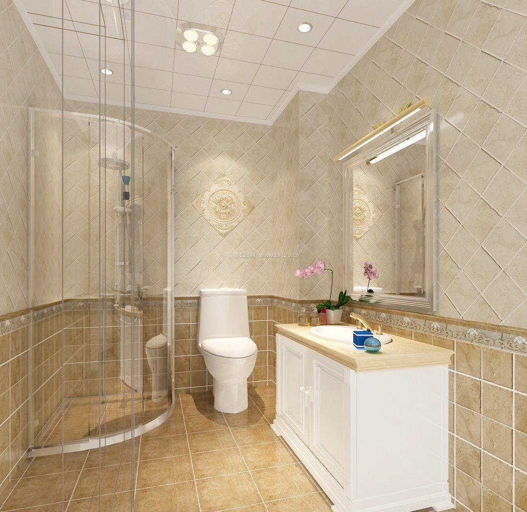 家装主卧卫生间瓷砖装修效果图