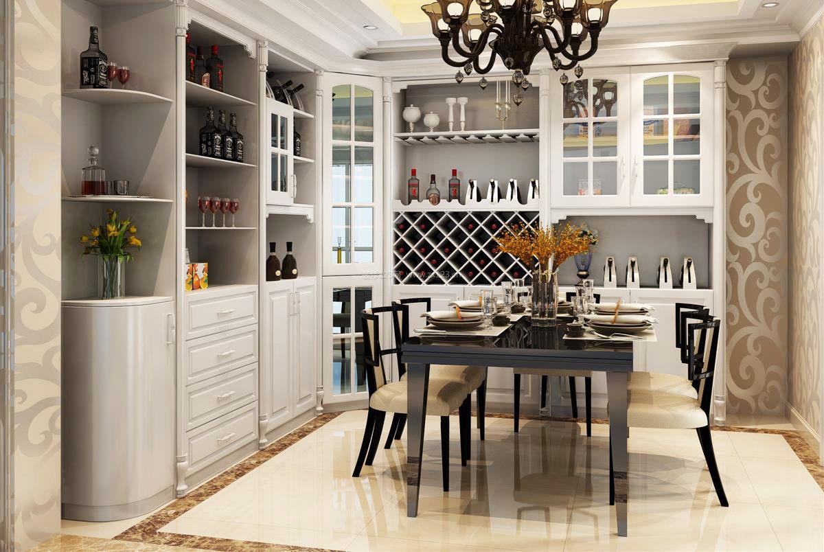 最新房屋现代家装酒柜装修效果图欣赏