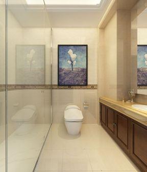 家庭卫生间装修效果图大全2017图片 入墙式马桶装修效果图片