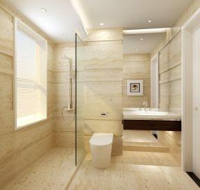 主卧卫生间装修效果图 玻璃隔断装修效果图片