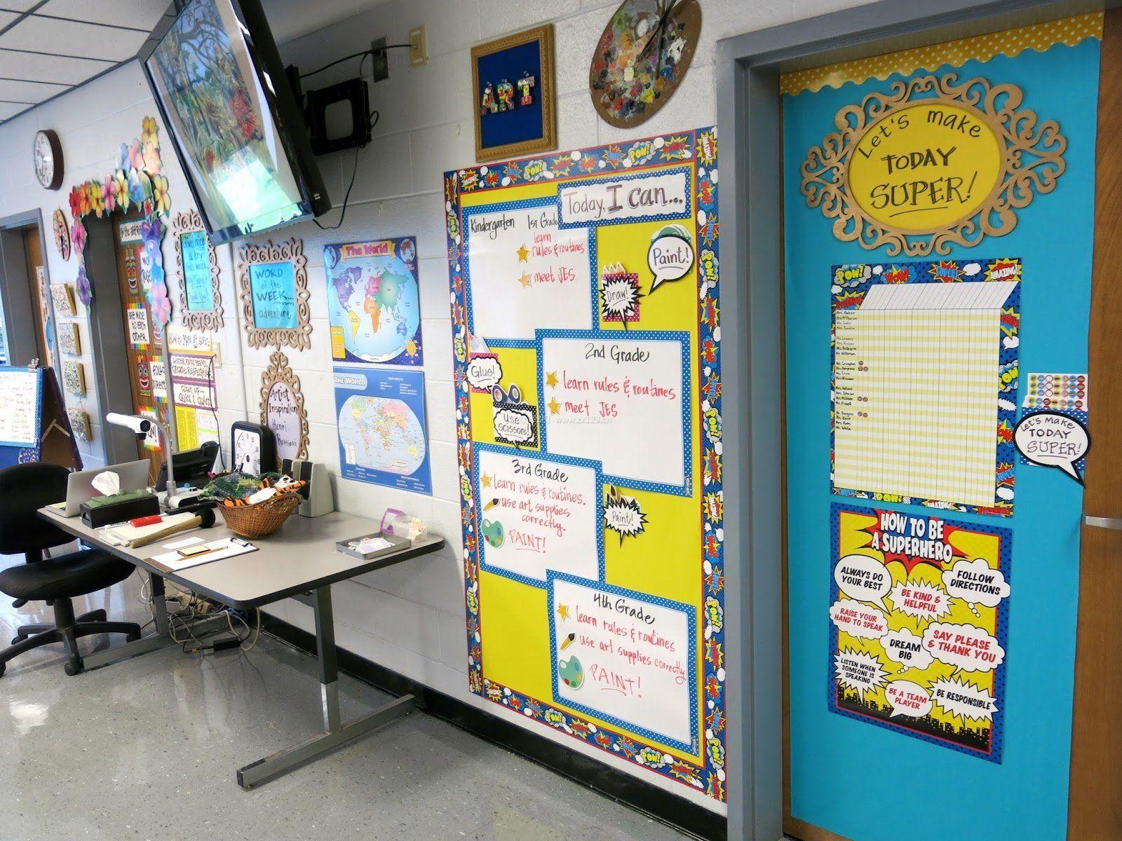 国外幼儿园教室文化墙布置装饰效果图片
