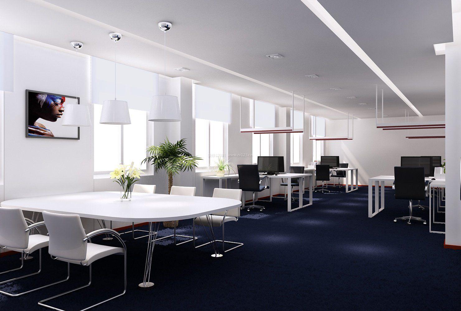 室内设计现代简约风格教师办公室布置效果图