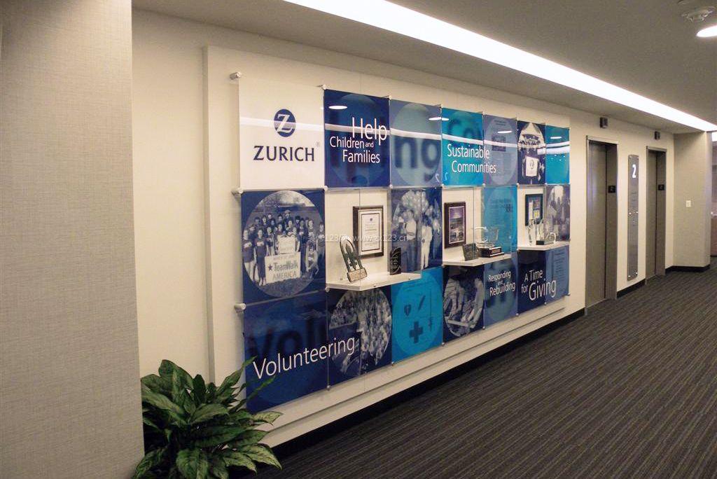 国外公司背景墙设计效果图片大全_装修123效果图
