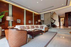 東南亞風格別墅客廳沙發擺放裝修效果圖片大全