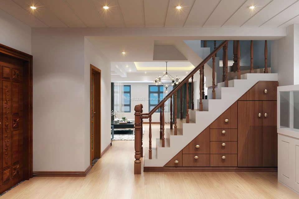 105房屋装修设计图 室内楼梯扶手装修效果图