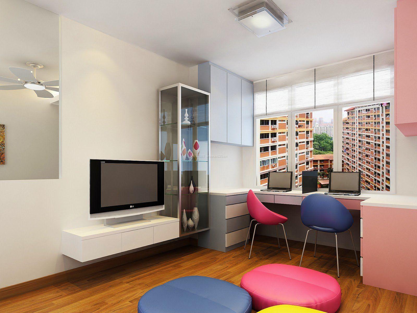 65平小户型客厅装修效果图电视墙_装修123效果图
