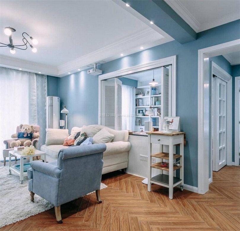 现代北欧风格88平米两室两厅装修效果图片