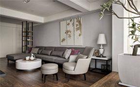 现代简约中式风格 转角沙发装修效果图片