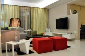 小户型现代简约风格装修效果图片 小户型电视墙设计