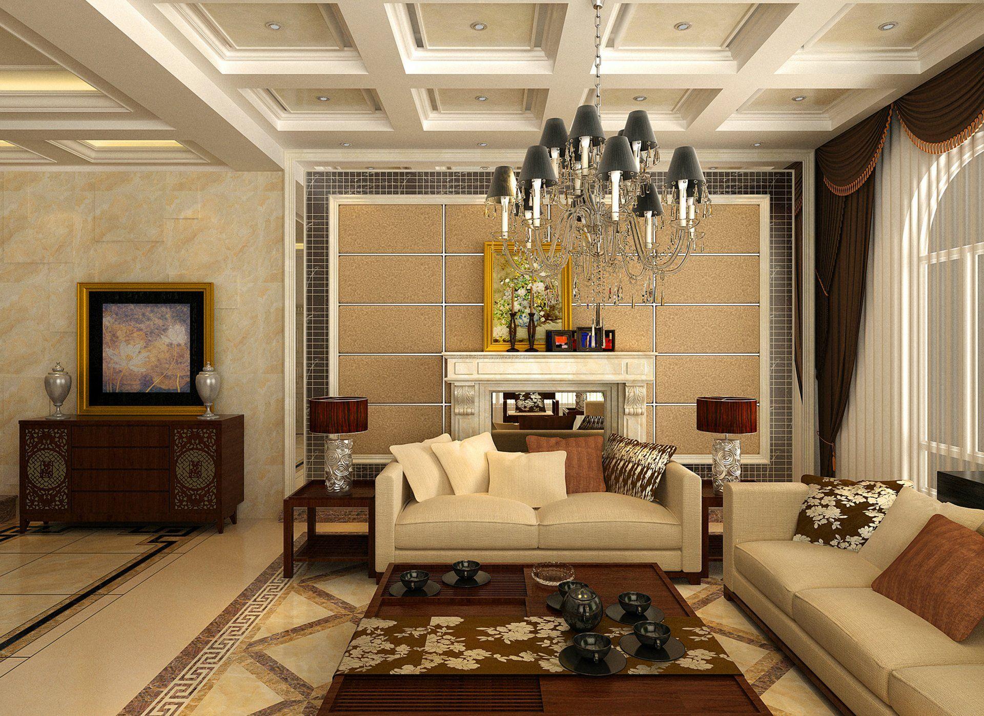 最新家居客厅地面瓷砖装修效果图欣赏