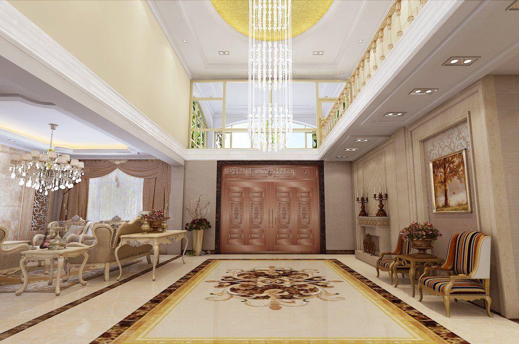 家装客厅地面瓷砖装修设计效果图欣赏