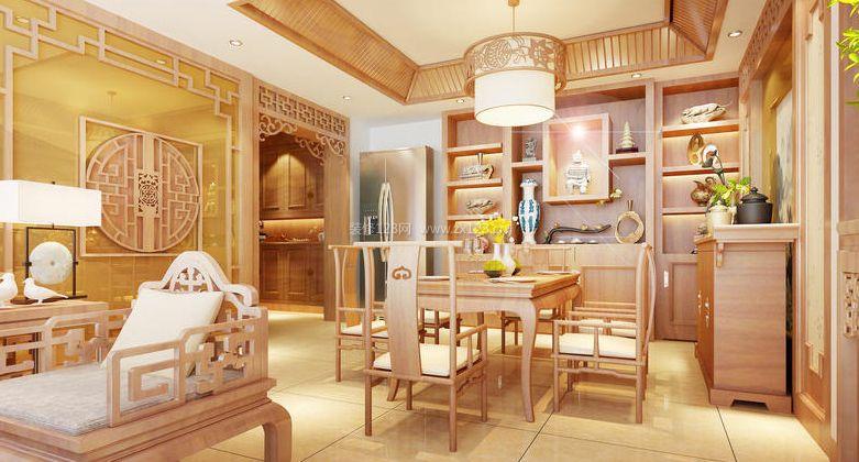 中式風格餐廳裝飾柜裝修效果圖片