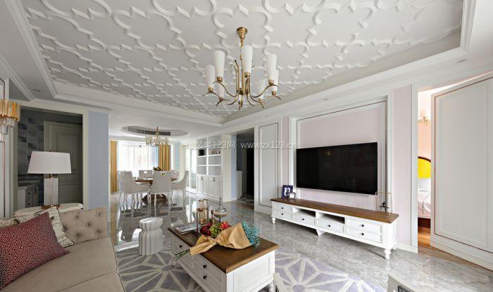 欧式客厅集成吊顶装饰效果图图片