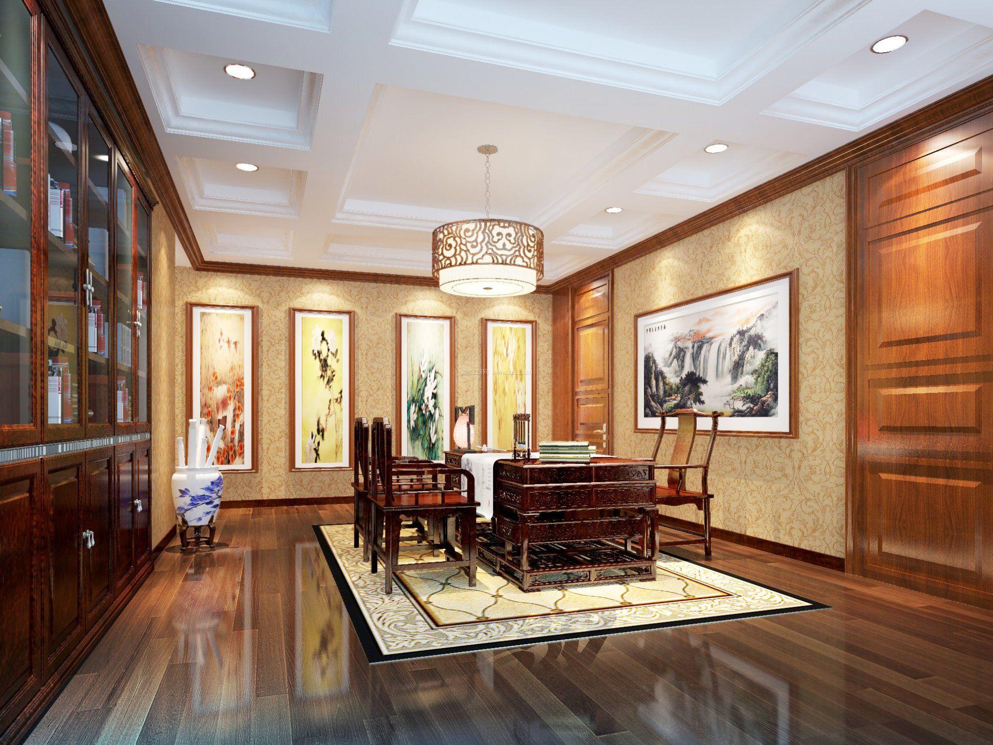 新中式家装风格吊顶效果图片