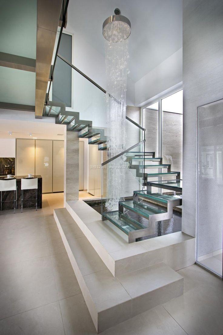 现代别墅跃层楼梯装修效果图