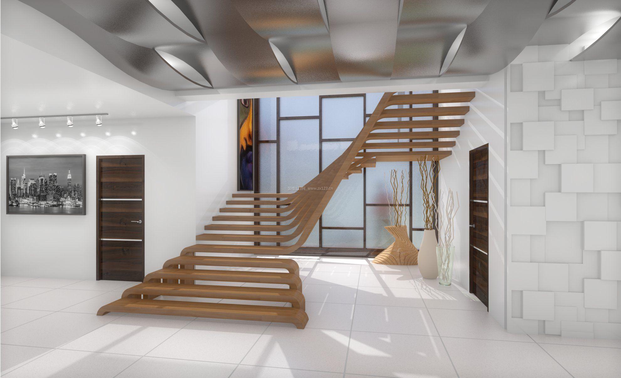 新房跃层楼梯装修图片_装修123效果图图片