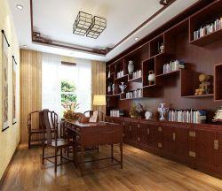 中式書房博古架裝修設計效果圖