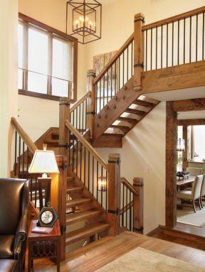 农村小别墅楼梯设计装修图片欣赏-农村小别墅设计图纸及效果图大全