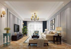 客廳集成吊頂效果圖 美式客廳家裝效果圖