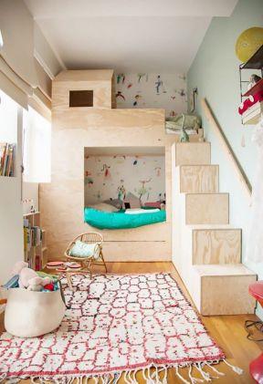2017小户型儿童房手绘墙装修