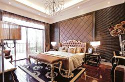 家庭臥室軟包床頭背景墻設計圖