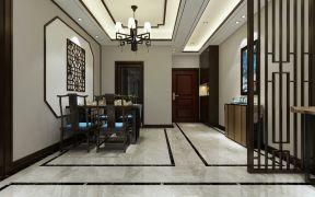新中式风格餐厅装修效果图 餐厅背景墙设计效果图