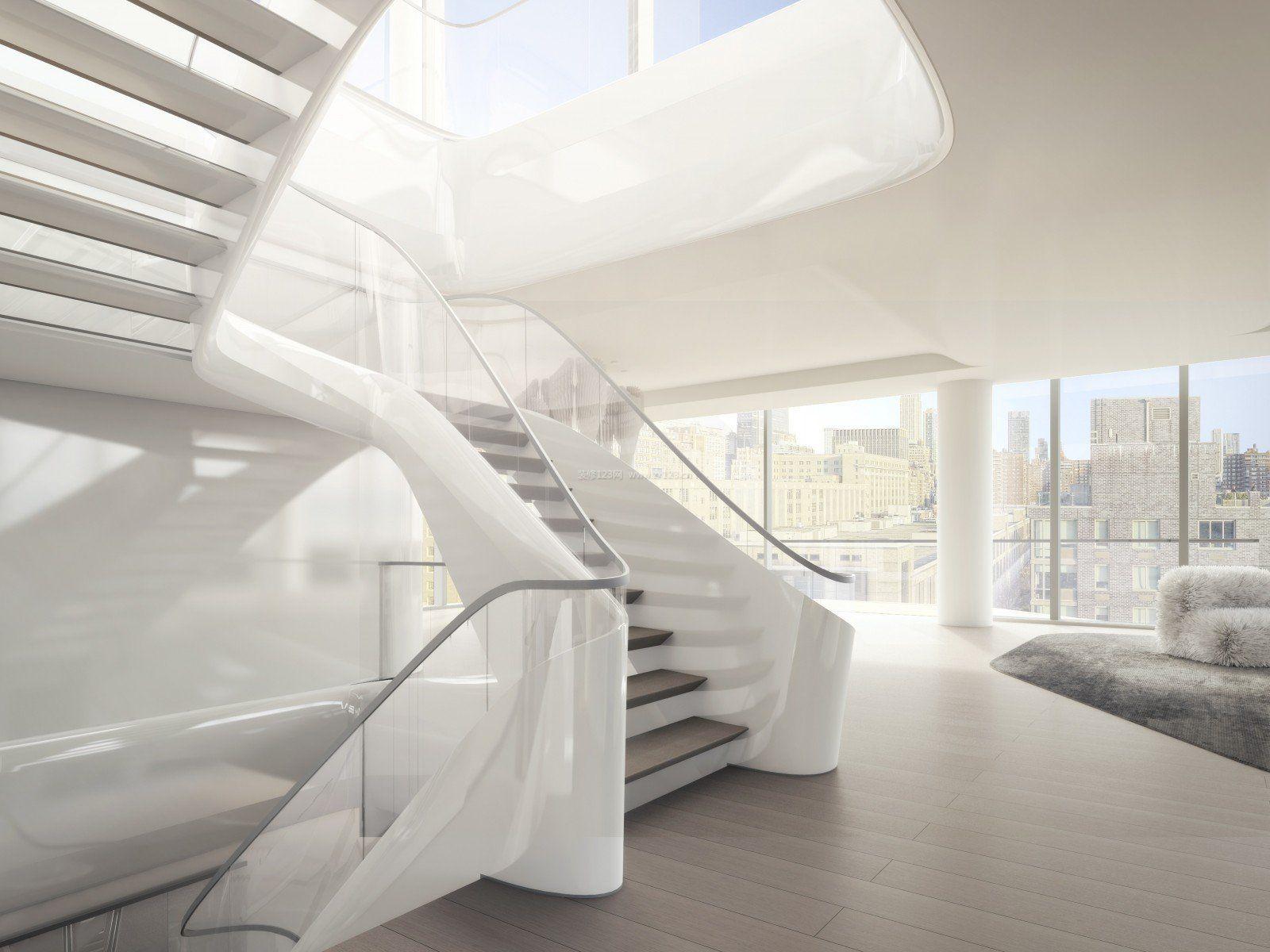跃层楼梯装修效果图大全2017效果图片