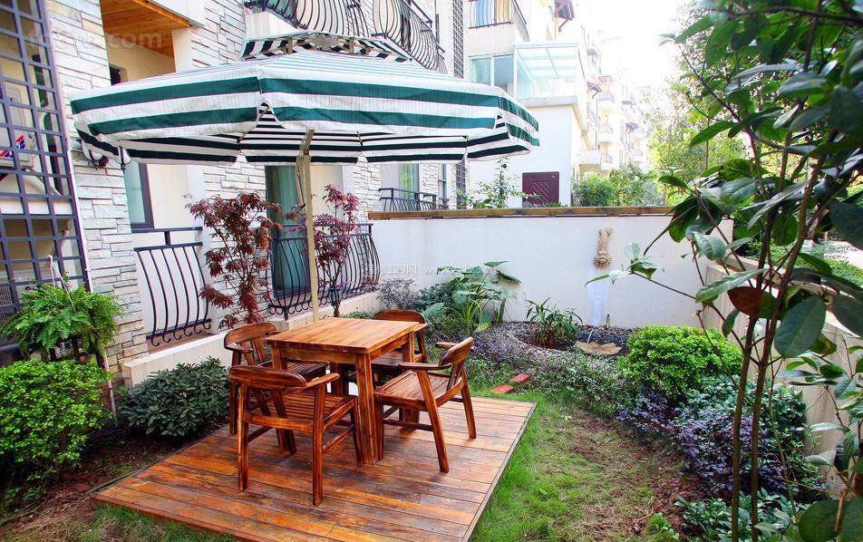 联排小别墅花园设计实景图