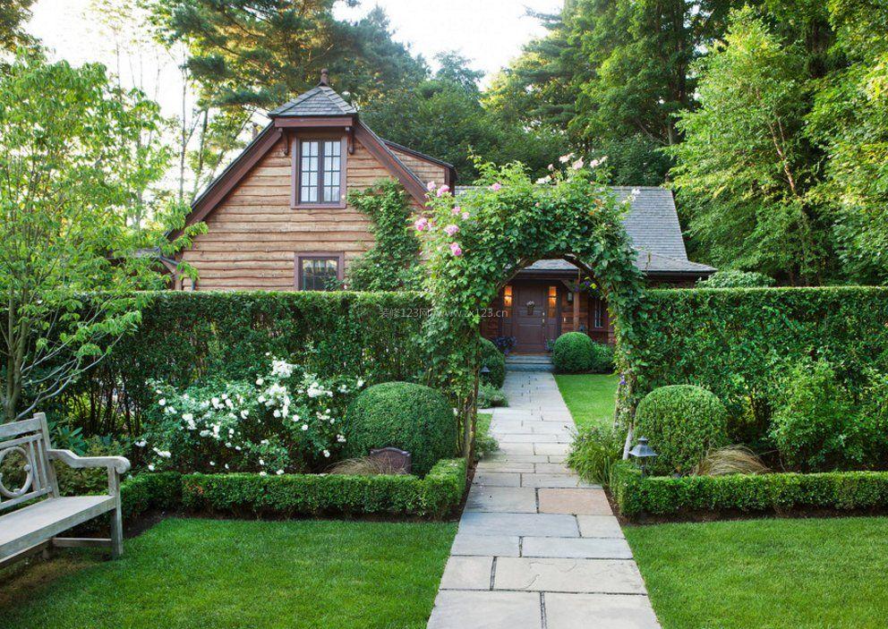 别墅花园设计-50平米庭院设计实景图-独栋别墅花园实景图-小型独栋