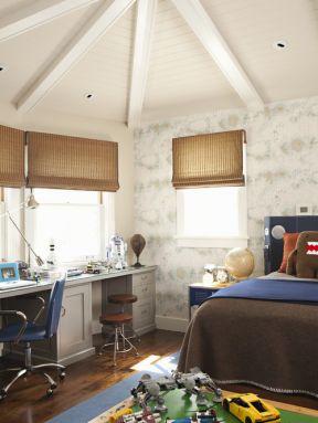 卧室飘窗书桌装修效果图-卧室飘窗装修效果图