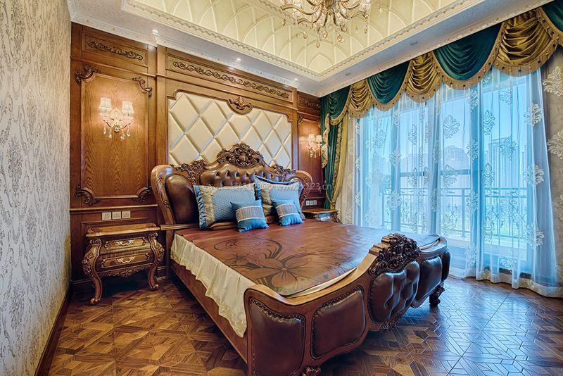欧式别墅卧室床头背景墙装修效果图图片图片