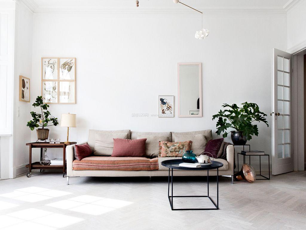 北欧田园风格家居客厅装修效果图